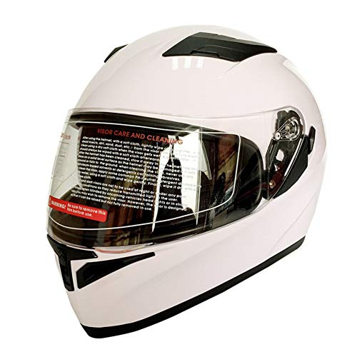 Moto-Completo-Viso-Casco-Doppia-Lente-Visiera-Protezione-Uv-Anti-graffio-Sicurezza-Completo-Viso-Casco