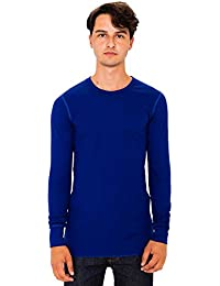 American Apparel Baby Thermal Long Sleeve T-shirt (T407) Binding at Neckline Ribbed Cuffs 55% Cotton, 45% Polyester