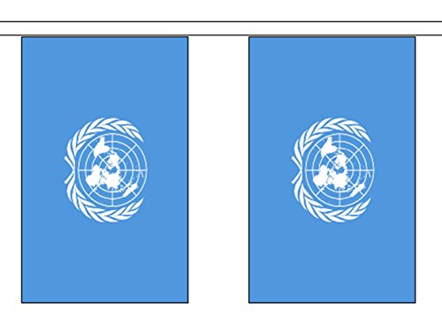 United Nations Vereinten Nationen Polyester Flagge Wimpelkette 3 m (10 ') Wimpelkette mit 10 Flaggen