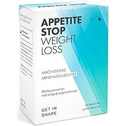 Glucomannan (Konjak-Wurzel) - 1 Gramm pro Kapsel – Natürlich Abnehmen ohne Hunger durch Appetitzügler (60 Tabletten für drei Wochen).