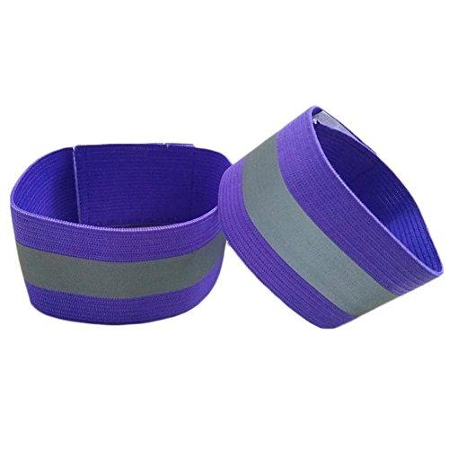 huang Reflektorbänder Reflektierende Lauf-Armbinden Gummizug-Armbinden Reflektierende Sicherheits Armband Knöchel-Bänder mit Klettverschluss Erwachsene und Kinder
