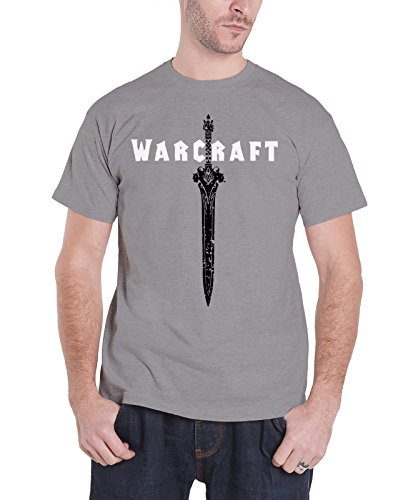 Shirt Offiziell Sword Logo Nue Herren Grau (World Of Warcraft Hoodie)
