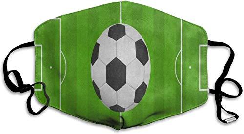 Bgejkos Palla sportiva riutilizzabile e lavabile antipolvere Calcio Campo da calcio Bocca Copertura Maschera Respiratore Germ Protezione protettiva Windproo caldo