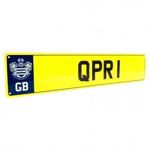 Queens Park Rangers F.C. Kennzeichenbeleuchtung SIGN- Metall Nummernschild SIGN- ca. 11 cm x 52 cm, mit Kopfzeile Karten, offizielles Lizenzprodukt