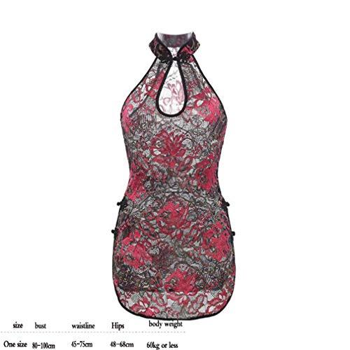 ZDJ sous-Vêtements Sexy Dames T-Shirt Transparent Costume Costume Chinois Fleur Rayures Épaules Nues Les Hommes Et Les Femmes Flirter des Vêtements pour Stimuler La Passion Masculine