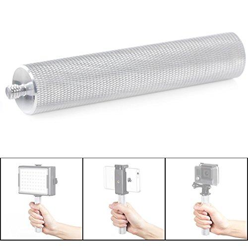 Mouriv Aluminium 1/4 Zoll Handheld Griff Handgriff für DSLR-Kameras, Systemblitze, GoPro und Smartphone ,video led light