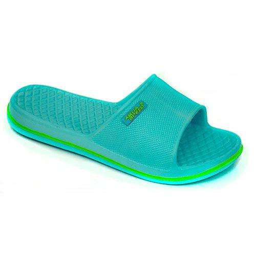 Aqua-Speed–Ciabatte da piscina/ ciabatte nuoto hellblau/grün