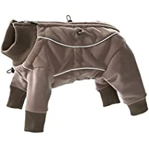 Hurtta Waterproof Fleece Onesie for Dogs, Brown, Size 201