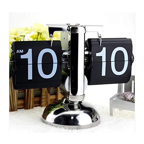 WBaRJ Mécanique rétro à Bascule - Horloge de Page rétractable Équilibre de Tige de Traction Balance de Page Automatique Horloge Classique Affichage mécanique-numérique Décoration intérieure Ornements