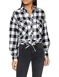 Urban Classics Ladies Short Oversized Check Shirt Camisa para Mujer