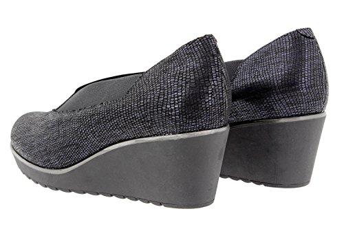 Scarpe donna comfort pelle PieSanto 9779 scarpe comfort larghezza speciale Marino