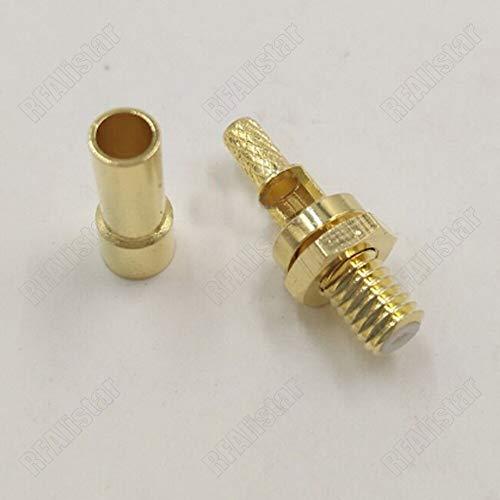 Gimax L5 Microdot 10-32 UNF Klinkenstecker für RG174 RG316 RG188 LMR100 Kabel für Ultraschallfehlerdetektor