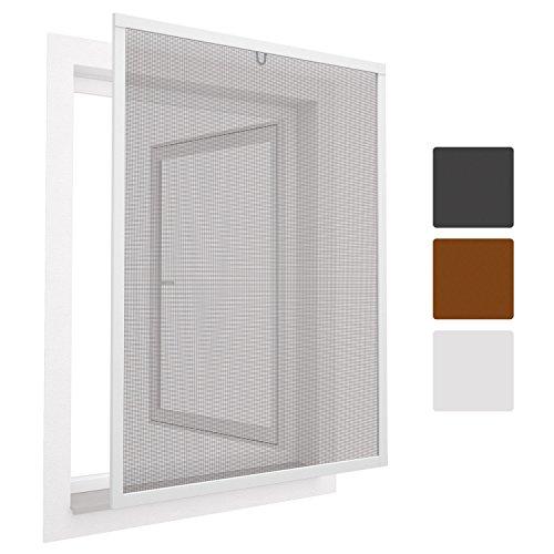 Sol Royal Insektenschutz Fenster SolProtect 100x120 cm - Fliegengitter Weiß Alu-Rahmen Bausatz