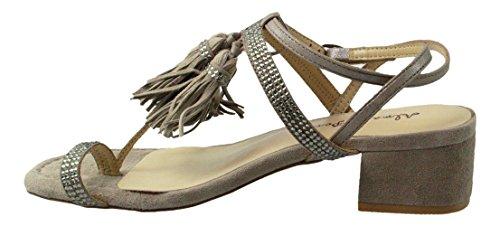 Alma en Pena , Sandales pour femme gris gris - gris - taupe,
