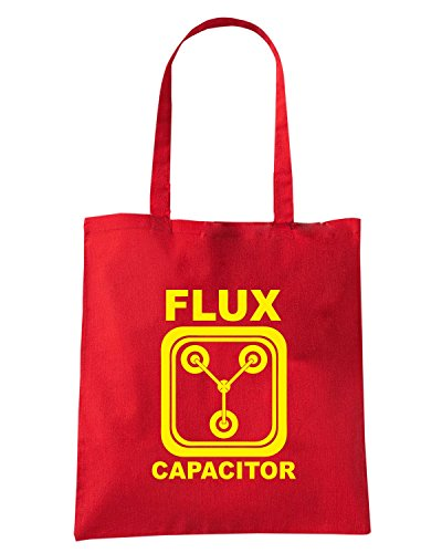 T-Shirtshock - Borsa Shopping FUN0668 back to the future flux capacitor yel mens cu 4 1 Rosso