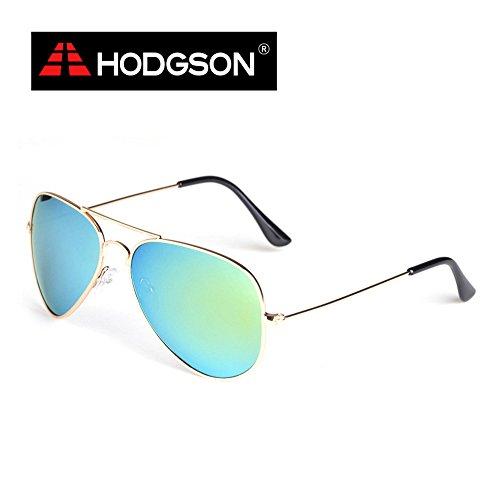 HODGSON Pilotenbrille Polarisierte Sonnenbrille UV400 Schutz Metallrahmen Verspiegelt Linse Unisex...