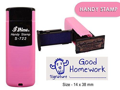 Shiny s-722self inchiostrazione timbro personalizzato personalizzato testo ufficio timbro 14x 38mm 14 x 38 MM Blue Ink