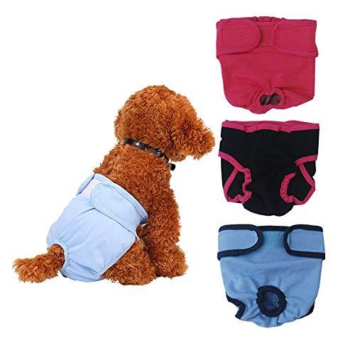 CMXX 3Er Hoher Saugfähigkeit Einstellbare Hundewindeln Für Weibliche Haustiere Hunde Welpen Wiederverwendbar Weibliche Puppy Wrap,L (Rüden Inkontinenz-wraps)