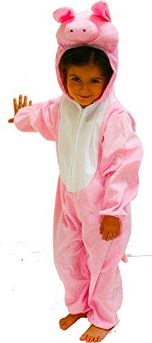 Imagen de fun play disfraz animal cerdo niño  animal onesie cerdo para niños de 3 5 años 110 cm talla m
