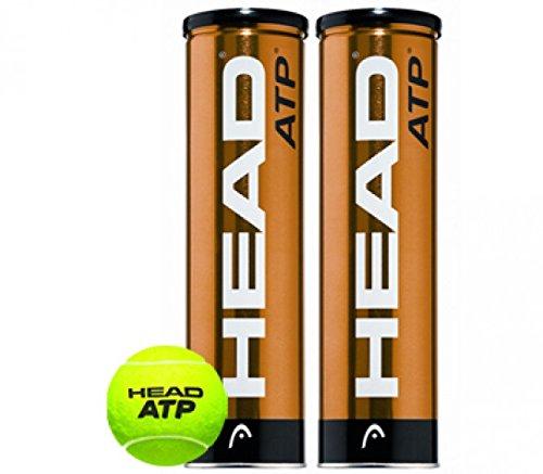 HEAD Golden Tennisball 2 x 4-er Pack, Gelb, One Size, 0062150143900000