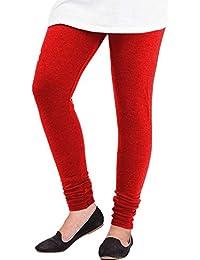 Selenas Womens Cotton Leggings(S06_Red_Free Size)