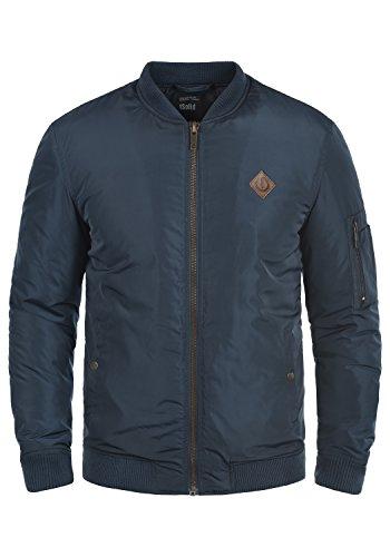 SOLID Park Herren Übergangsjacke Bomber-Jacke mit Stehkragen aus hochwertiger Materialqualität Insignia Blue (1991)