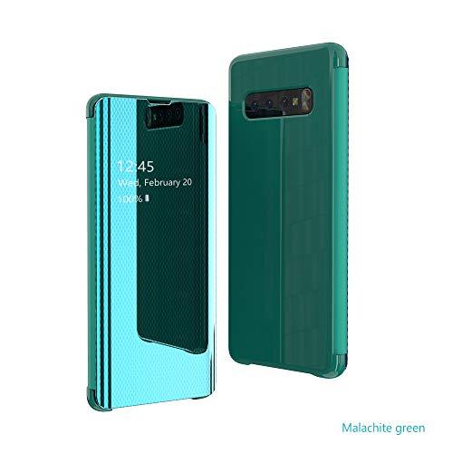 Hülle Kompatibilität Samsung Galaxy S10 Plus Ultradünn Flip Schutzhülle Anti-Kratzer Anti-Dropping Handyhülle PC Handy Schutz Löschen Clear View für Galaxy S10/S10e (Samsung Galaxy S10e, Grün) Galaxy Grün