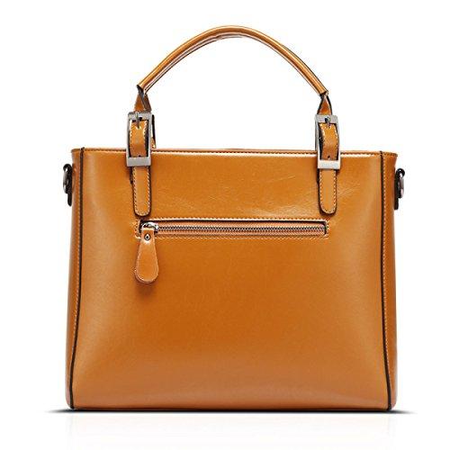 LAIDAYE Handtaschen Schulter Messenger Laptoptasche Große Handtasche Damenmode Tasche Brown