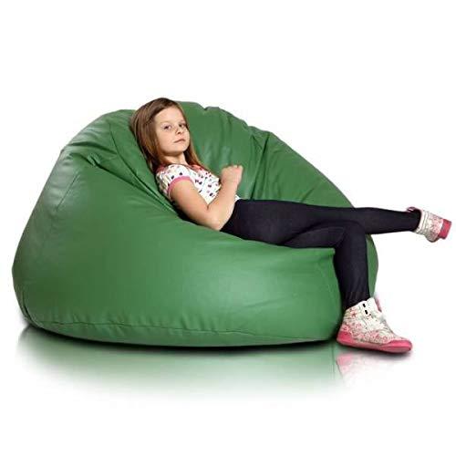Ecopuf Maxi Große Sitzsack Abdeckung, aus Öko-Leder, Ideal für Jugendliche und Erwachsene, 70x140...