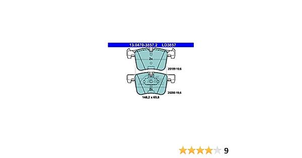 4 x Pastiglie freno anteriore 13.0460-3857.2 ATE