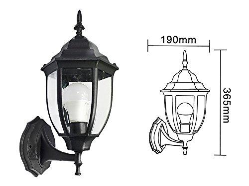 Illuminazione Esterna Lanterna : Vetrineinrete® lanterna da giardino stile retrò lampada a parete