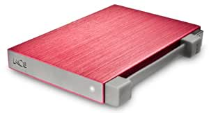 LaCie Rikiki GO Portable 500GB Hard Drive USB 2.0 - Red