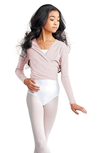cad850c capezio cotton cardigan wrap over ballet dancewear childrens (light pink, small age 4-6) by Capezio (Wrap Capezio)