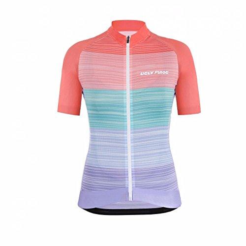 Uglyfrog Neu Sommer Damen Cycling Jersey Männer Radfahren Trikots Shirts Atmungsaktiv Mode Bunt Sport Bekleidung BDX