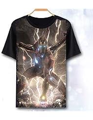 T-Shirt Avengers Endgame Iron Man Thor Vedova Nera Hulk Captain America Thanos Marvel Comics Supereroi Kids Adulti Tee Top