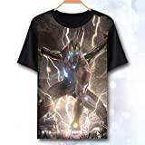T-Shirt Avengers Endgame Iron Man Thor Vedova Nera Hulk Captain America Thanos Marvel Comics Supereroi Kids Adulti Tee Top