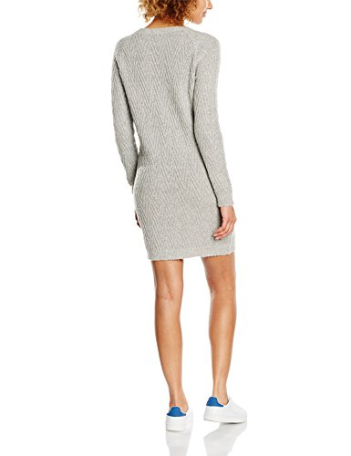VERO MODA Damen Kleid Vmposh Ls Dress Noos Grau (Light Grey Melange Light Grey Melange)