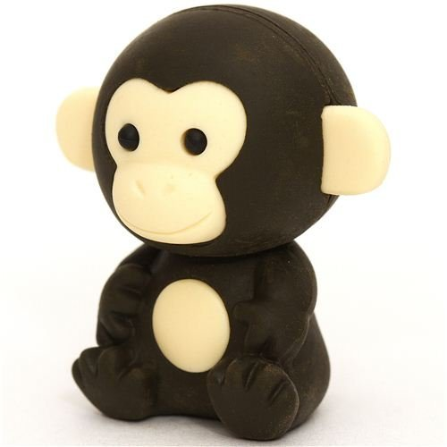 dark brown monkey eraser by Iwako from Japan by Iwako