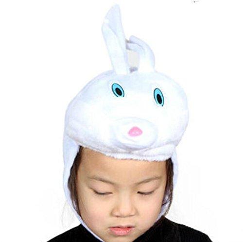 Baby Rabbit White Kostüm - Bellecita Mode Hut Nettes Baby-Kaninchen Cosplay Zubehör Cartoon Tier Hut Neuheit Komfort Geschenk (Farbe : White Rabbit?)