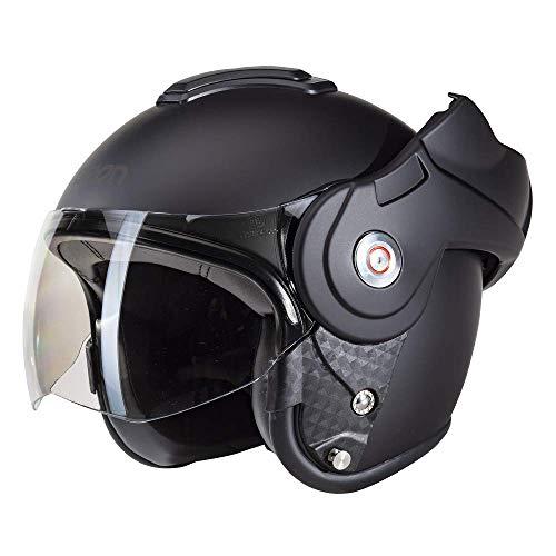 Beon B702 Reverse Matt Schwarz - Klapphelm - Motorrad helm - XXL