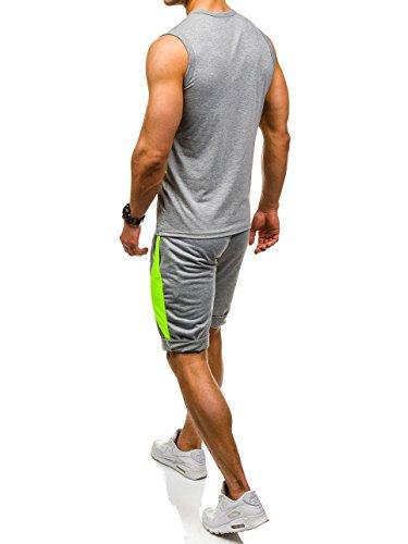 BOLF �?Felpa sportiva Pantaloni sportivi Track-suit Jogging Sport palestra fitness Uomo [8H8] Grigio