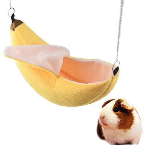 Banana Hamsterbett House Hängematte Warm Eichhörnchen Igel Guinea Pig Bett House Käfig Nest Hamster Zubehör (Sugar Glider Farben)