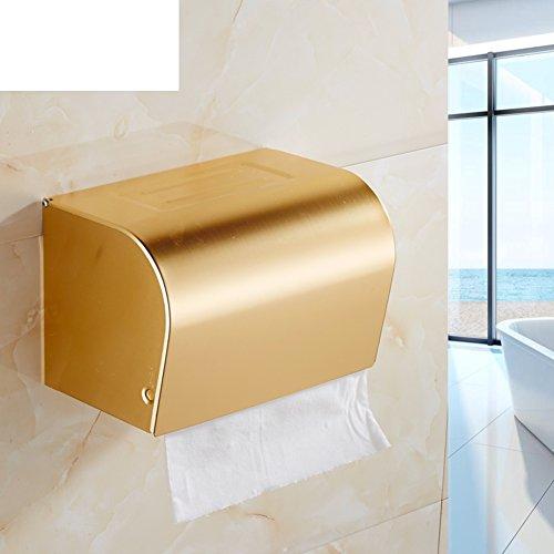 Servizi igienici tessuto allungato/Casella spazio alluminio carta igienica/[bagno impermeabile portasciugamani]/ European-style Golden Portarotolo