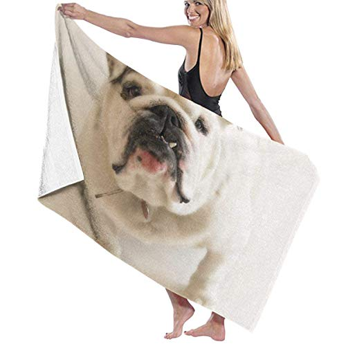 xcvgcxcvasda Serviette de bain, Beach Bath White Pug Dog Personalized Custom Women Men Quick Dry Lightweight Beach & Bath Blanket Great for Beach Trips, Pool, Swimming and Camping 31