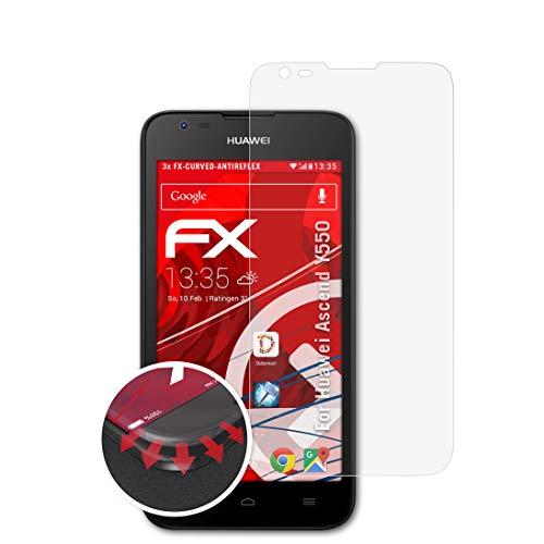 atFolix Schutzfolie passend für Huawei Ascend Y550 Folie, entspiegelnde & Flexible FX Bildschirmschutzfolie (3X)