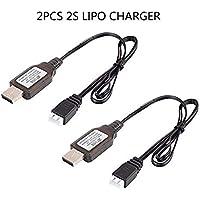 2pcs cable de cargador USB 1A para 2S 7.4V LiPo batería RC Quadcopter FPV Drone
