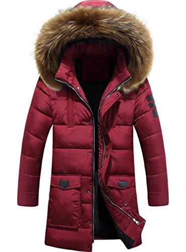 Giacca invernale da uomo cappuccio in pelliccia con casual moderna ispessita moda parka giacca invernale con cappuccio trapuntato giacca da uomo cappotto con cappuccio giacca esterna cappotto uomo