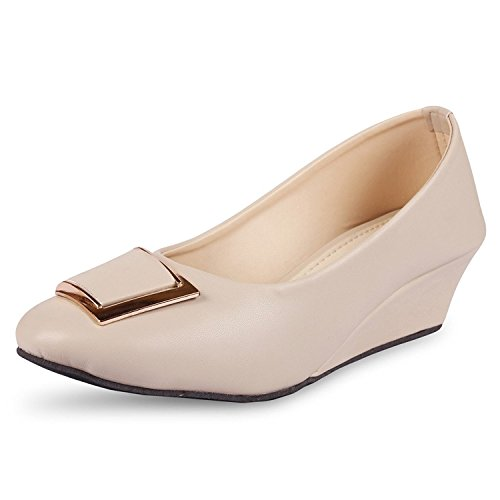 Rgk's Artificial Leather Bellies for Women's and Girl's (Rgk-41) (5 UK, BEIGE)