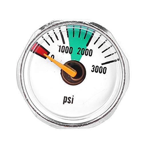 Micro Gauge Paintball, 1/8\'\'NPT Manometer Kompressor Manometer Luft Öldruckmesser for Paintball PCP Luftgewehr (Größe : 3000psi)