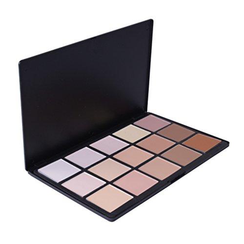 Pure Vie® 15 Couleurs Palette de Maquillage Correcteur Camouflage Crème Cosmétique Set - Convient Parfaitement pour une Utilisation Professionnelle ou à la Maison